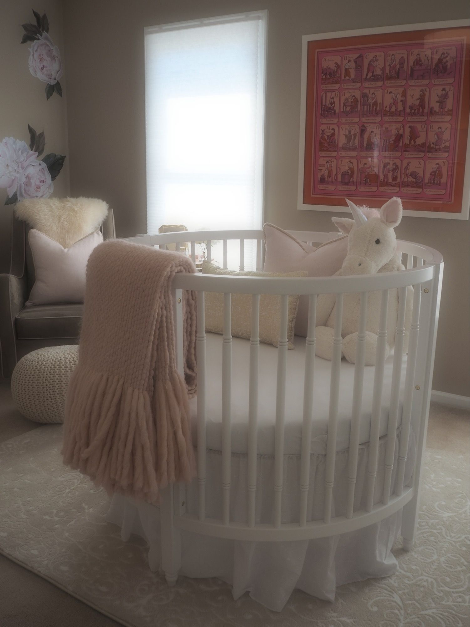 Blush Plush Baby Love Project Nursery Round Baby Cribs Best Baby Cribs Round Cribs