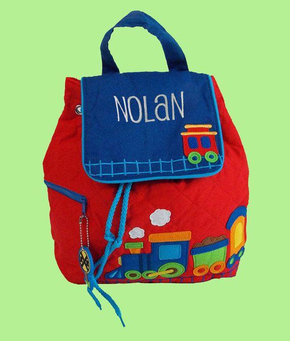 Personalized Stephen Joseph TRAIN Backpack