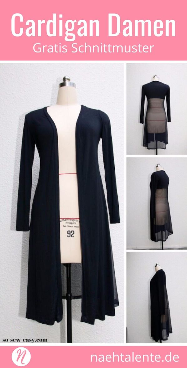 Lange Strickjacke – Long Cardigan | Kleidung nähen | Pinterest ...