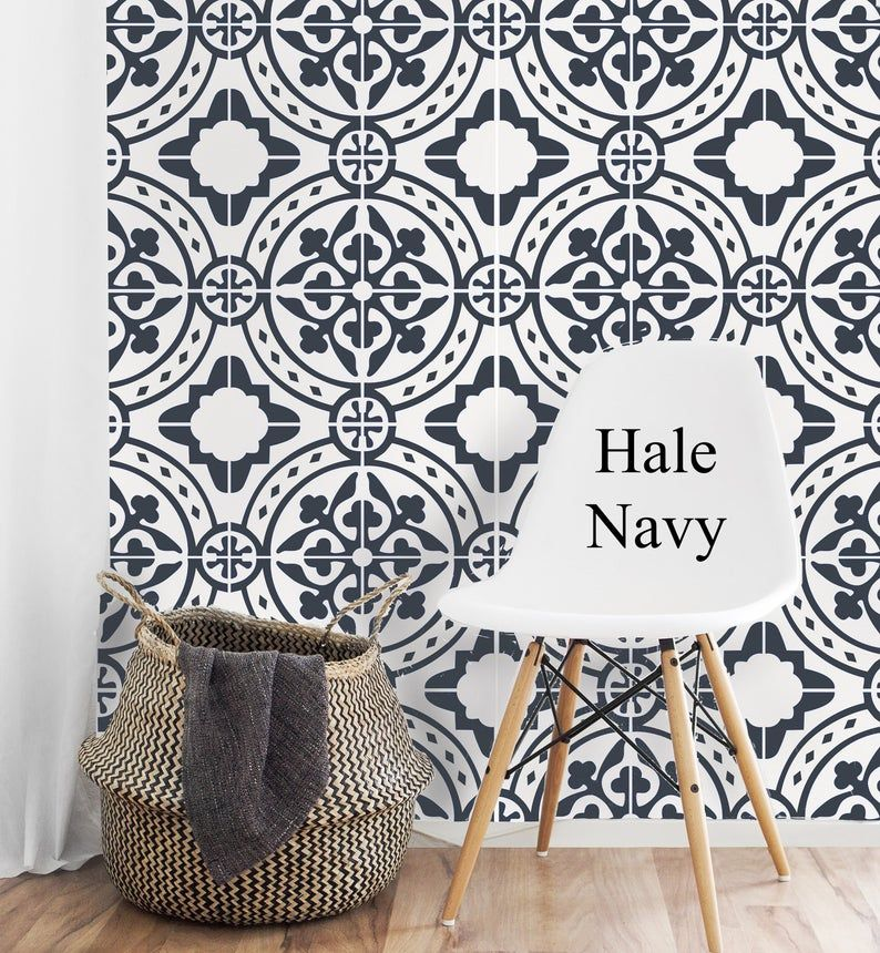 Moroccan Tile Peel And Stick Wallpaper Removable Wallpaper Etsy Peel And Stick Wallpaper Removable Wallpaper Removable Wallpaper Bathroom