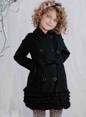 Biscotti - Black Wool Trench Coat (clearance ~ $69 with free ship ...