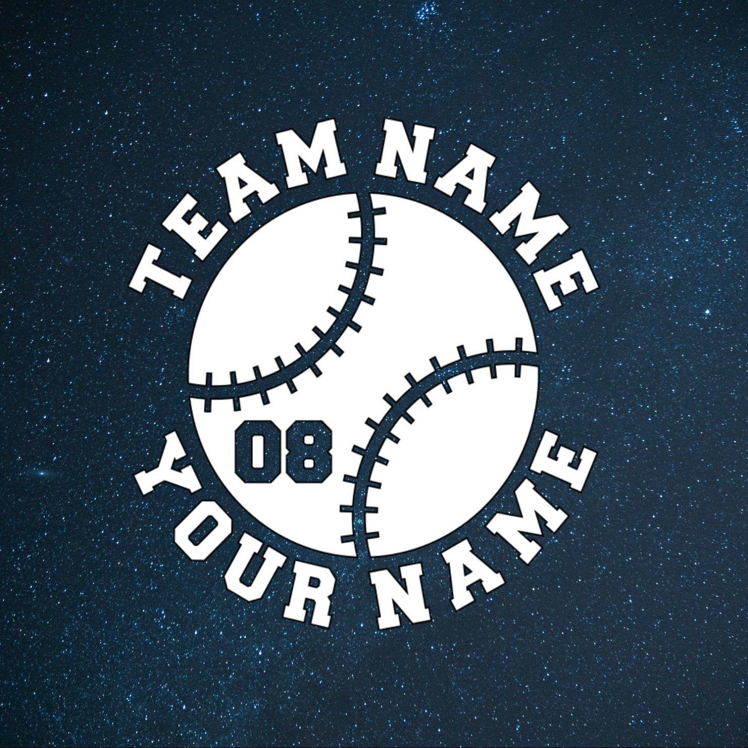 Personalized baseball decal baseball sticker sports decal