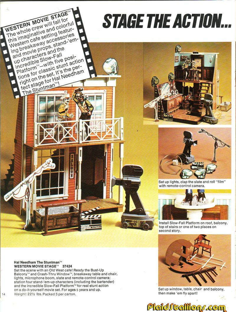 Gabriel Hal Needham Stunt Set One Of The Coolest Toys Ever Man Was A Little Small But It Such Cool Concept With Break Away Railings