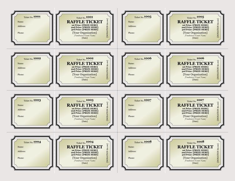 45 Raffle Ticket Templates Make Your Own Raffle Tickets Raffle Tickets Template Raffle Ticket Template Free Ticket Template Free