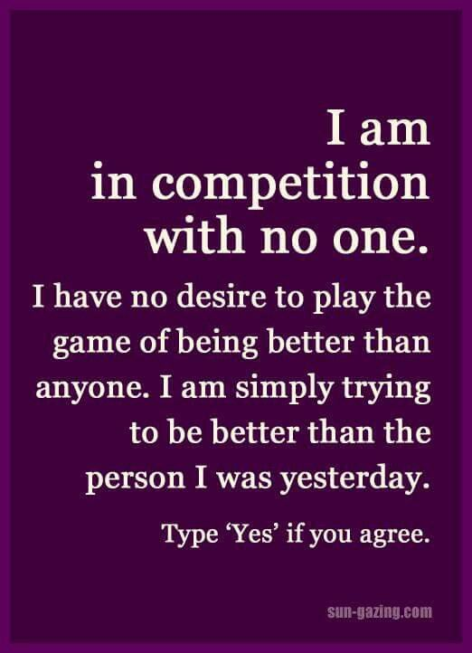 I Am Not Competing With Anyonetheres Is Only One Me Blackouts