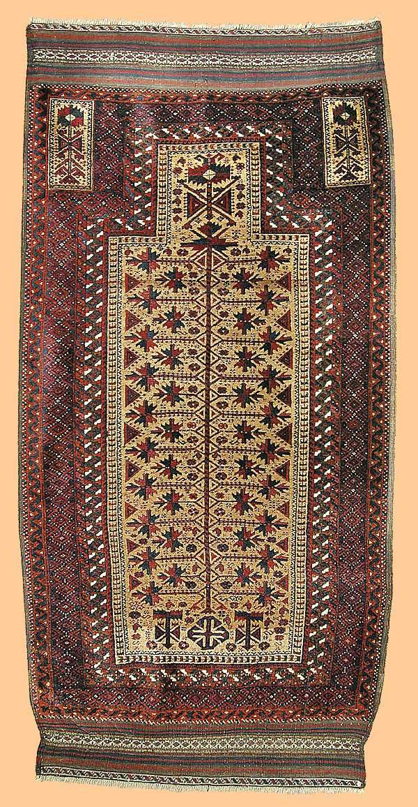 Baluch Rugs Jan Begi Baluch Tree Of Life Prayer Rug Persia Second Half 19th Tapetes Decoracao