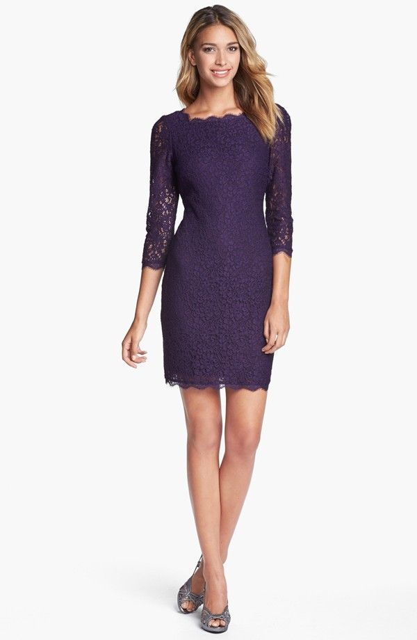 Cheap Lace Overlay Sheath/Column Mother Of The Bride Dress   2014 ...