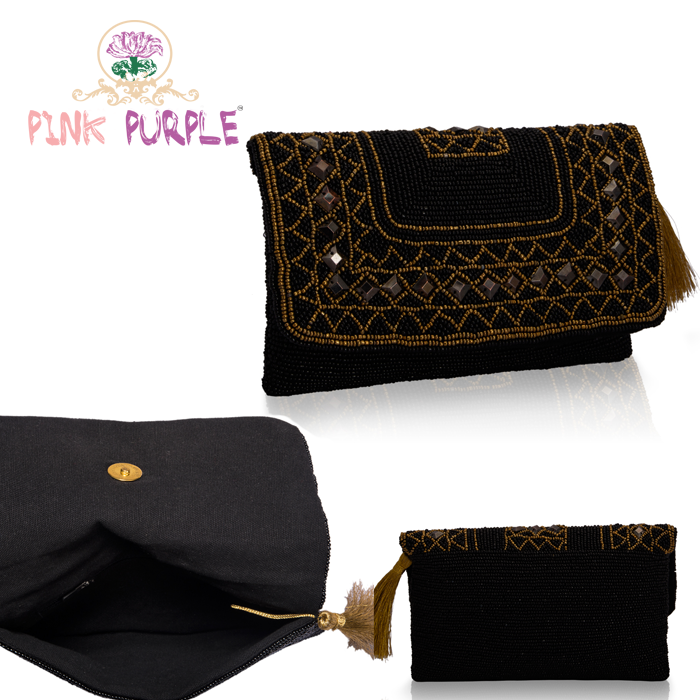 Flaunt your trendy side with this gorgeous beaded bag from Pink Purple. Buy here -> https://goo.gl/jfTqNt #PinkPurple #Fashion #Accessory