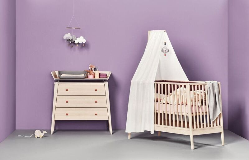 Linea by Leander Cot - Natural | The Baby Closet | Baby Furniture ...