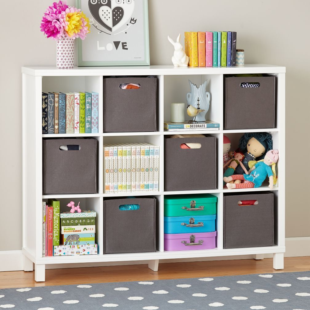Cubic Tall Bookcase White 12 Cube The Land Of Nod