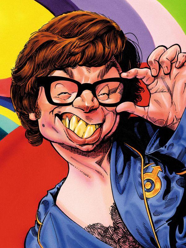 Mike Myers Austin Power Karikaturen