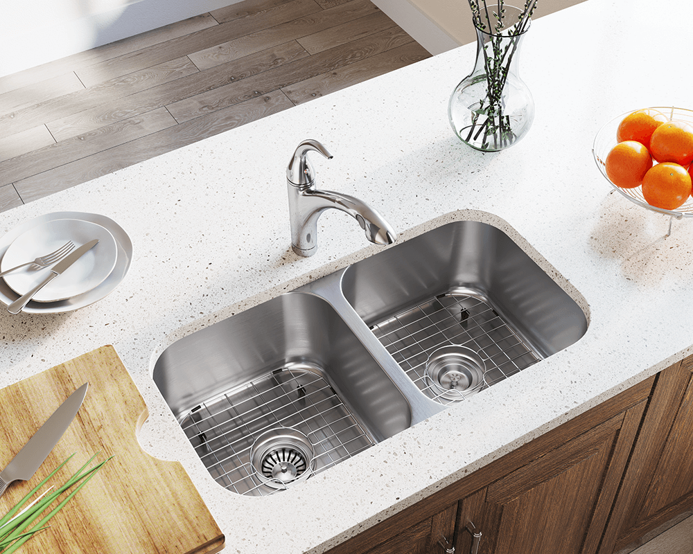 3218a 16 Double Bowl Undermount Stainless Steel Sink With Images