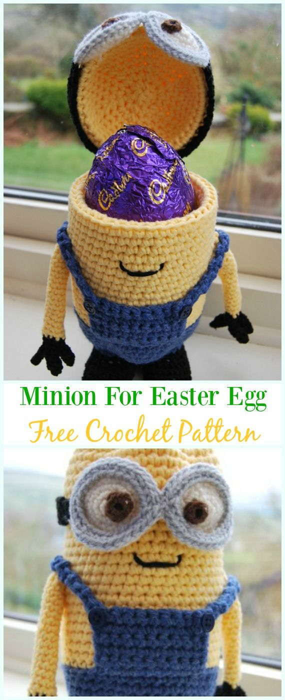 Crochet Minions of Easter Eggs Free Pattern - #Crochet, #Easter; Egg ...
