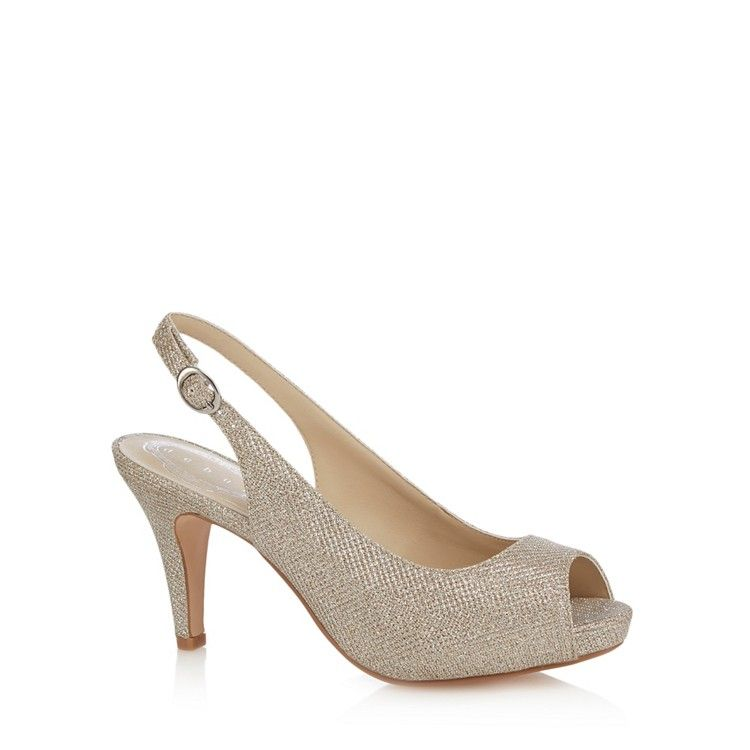 1cd734c4a5d Silver  Dashing  high heel wide fit peep toe shoes