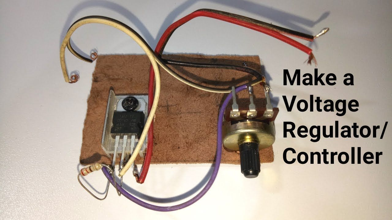 How To Make A Adjustable Voltage Regulator Controller Easy Way Voltage Regulator Electronic Circuit Projects Electronics Mini Projects