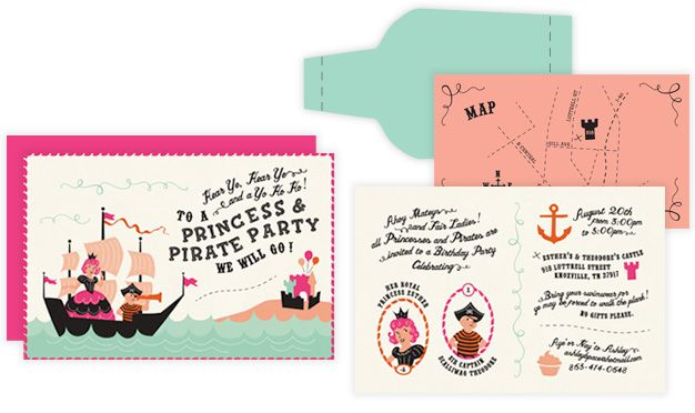 Cutest princess and pirate invite suite design inspiration princess and pirate birthday invitation i like the map filmwisefo Choice Image