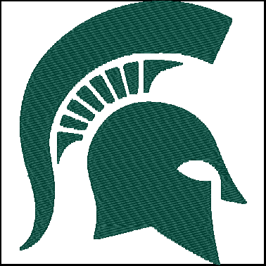 Michigan State University Spartans Embroidery Design Pattern For 2 00 Embroidery Logo Embroidery Projects Embroidery Designs