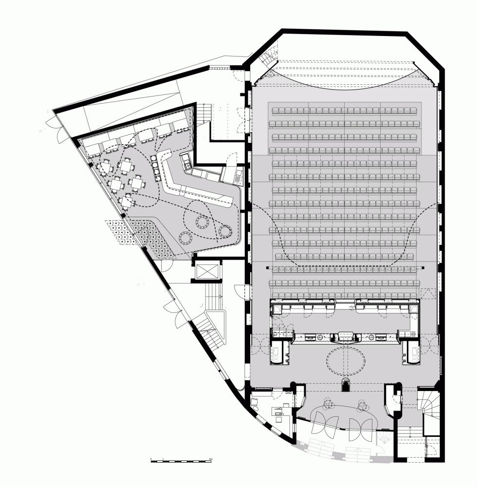 Gallery Of Filmtheater Weltspiegel Cottbus Studio Alexander Fehre 13 Cinema Architecture Auditorium Plan Theater Architecture