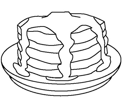 pancakes coloring pages - photo#20