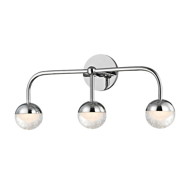 Mid Century Modern Bathroom Led Light Polished Chrome By Hudson Valley At Destination Lighting
