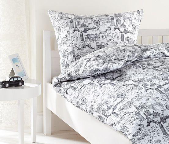 sightseeing im heimischen bett perkal bettw sche ab 24 95 bei tchibo schlafzimmer pinterest. Black Bedroom Furniture Sets. Home Design Ideas