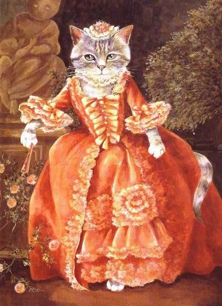 "Kitty Art 2 -   ""Madame de Pompadour"" (Françoise Boucher) by Susan Herbert"