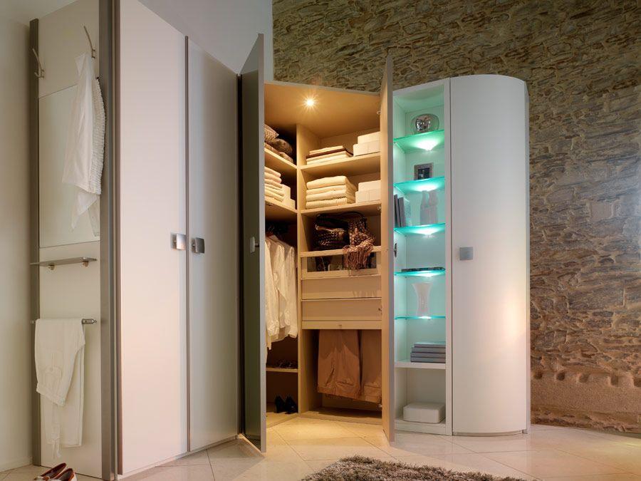 Angle dressing portes verres ref noveo meubles rey