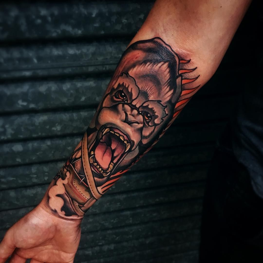 100 Badass Tattoos For Guys: Anthony Got A Scar On His Arm While Building The Set For