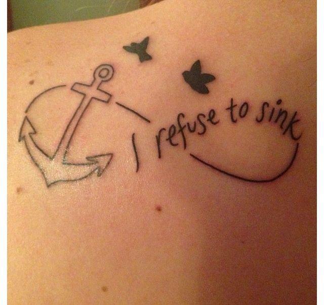 Irefusetosinktattoo Refuse To Sink Tattoo I Will Not Sinks