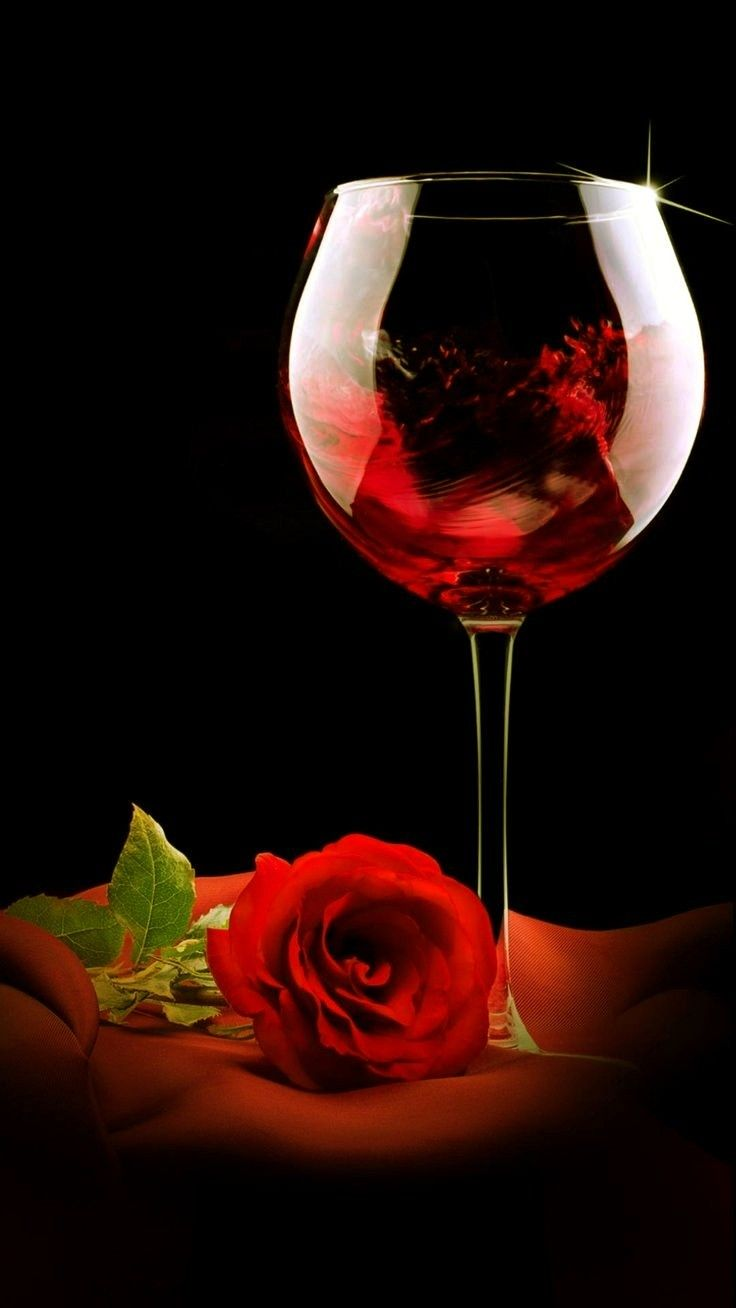 Pin By Pieter Bouke Beenen On Bună Dimineața In 2020 Rose Wine Glass Diamond Painting Painted Wine Glass