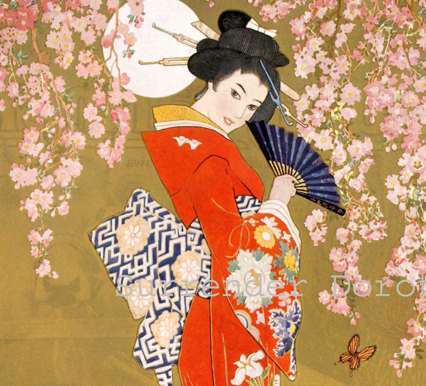 японские картинки из книг