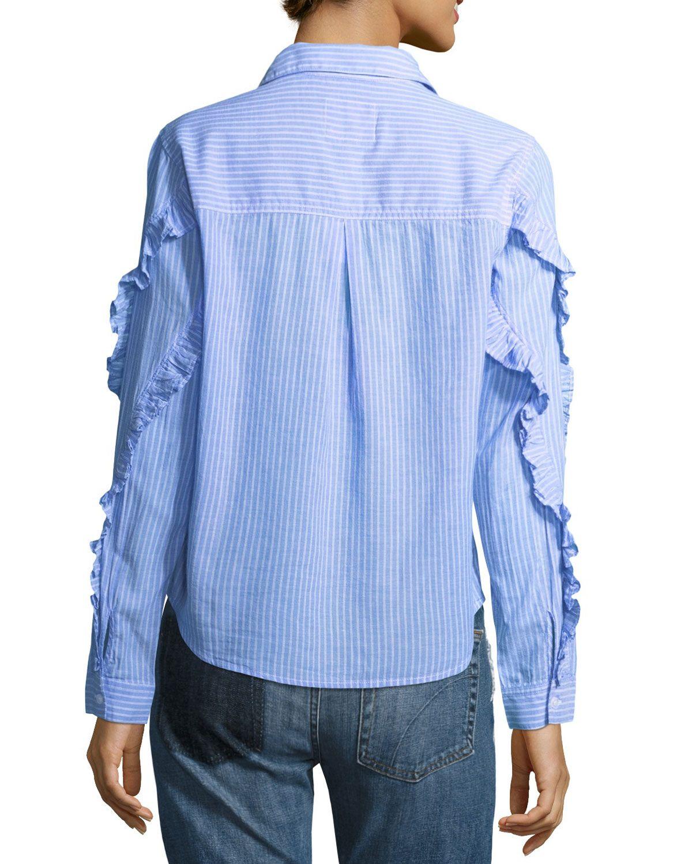 f57bdbd1ed9332 Rails Lizzi Striped Button-Front Poplin Shirt | Products | Shirts ...