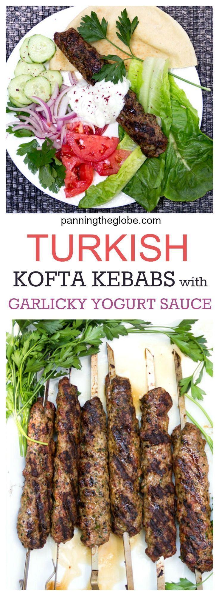 Grilled Turkish Kofta Kebabs Recipe Bloggers Best Healthy Recipes Turkish Recipes