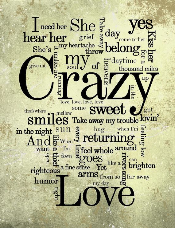 Crazy Love Lyrics Subway Sign Van Morrison 8x10 By Frenchpear
