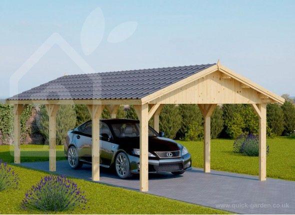 Car Ports 3x6 Wooden Free Shipping Uk Wooden Carports Carport Quick Garden