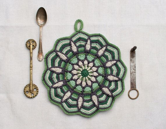 E-Book No. 1 - in the kitchen, 3 Pattern in Overlay Crochet, PDF in ...