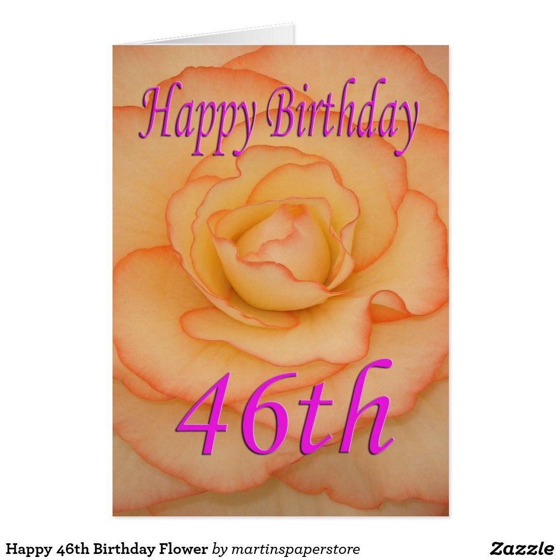 Happy th birthday flower card all things zazzle pinterest