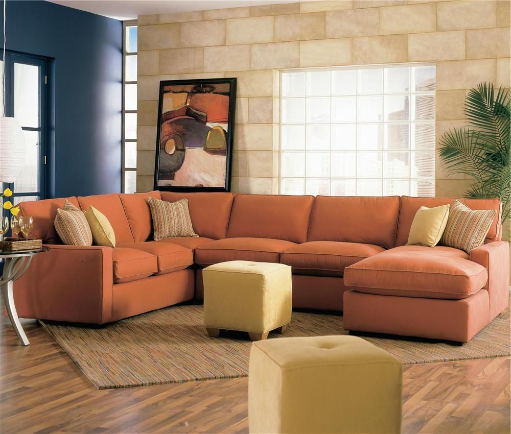 Rowe Monaco Sectional Sofa with Chaise Lounger - Sprintz Furniture ...