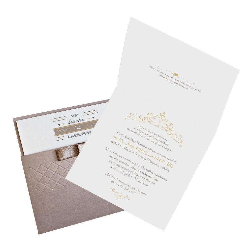 moderne hochzeitskarte nr 74 einladungskarten papeterie. Black Bedroom Furniture Sets. Home Design Ideas