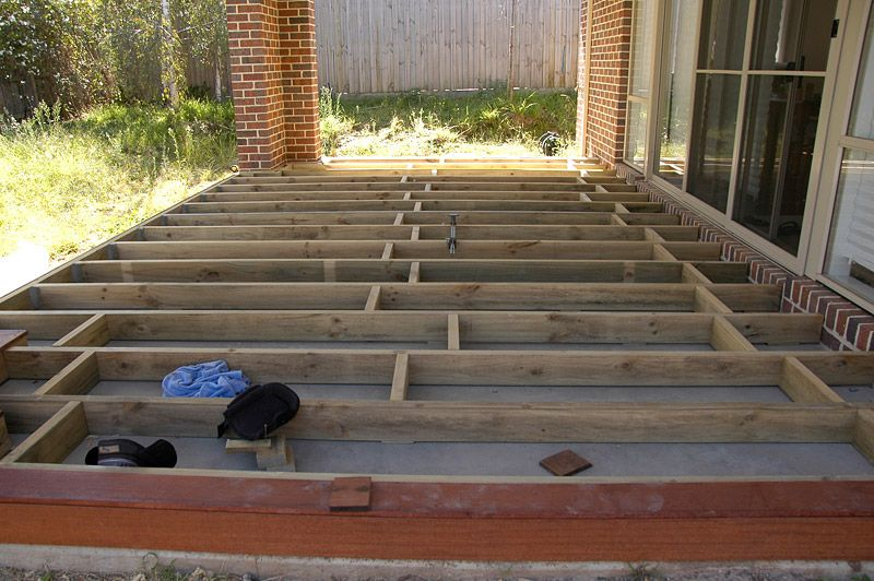 Building A Deck Over Concrete Slab