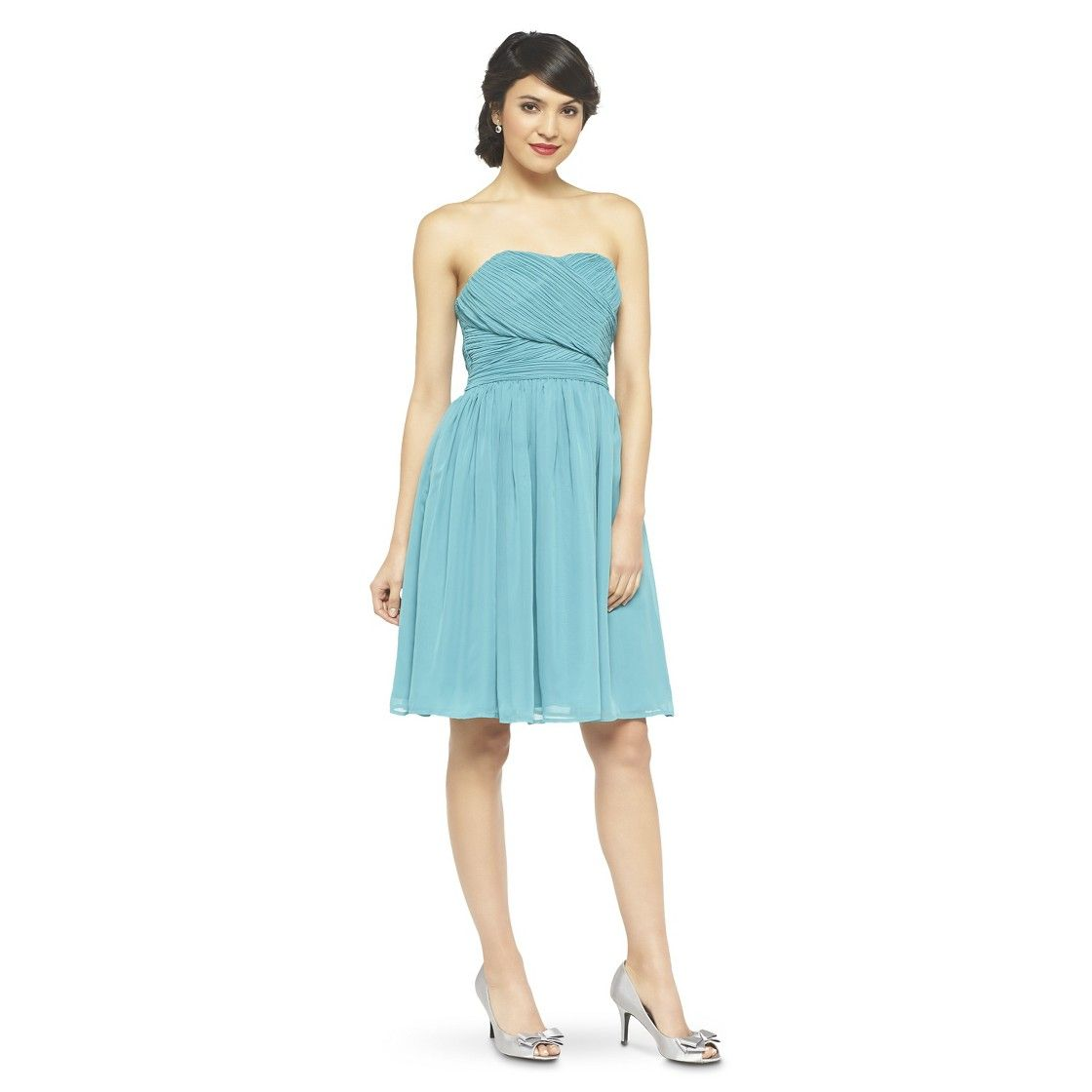 9a80f583ec Women s Chiffon Strapless Bridesmaid Bridesmaid Dress Fashion Colors -  TEVOLIO