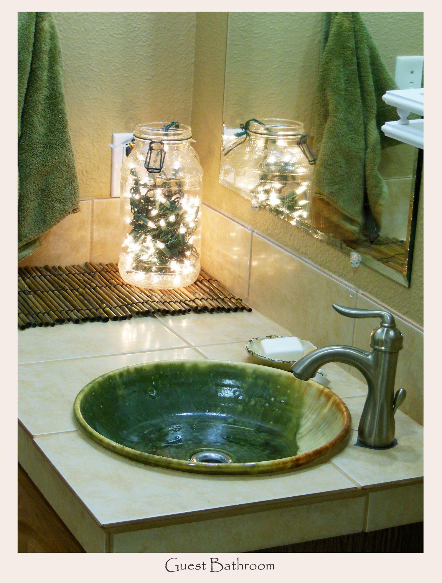 Blue Bathroom Drop In Sinks