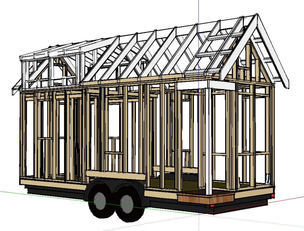 Free Tiny House Sketchup Model Projetos