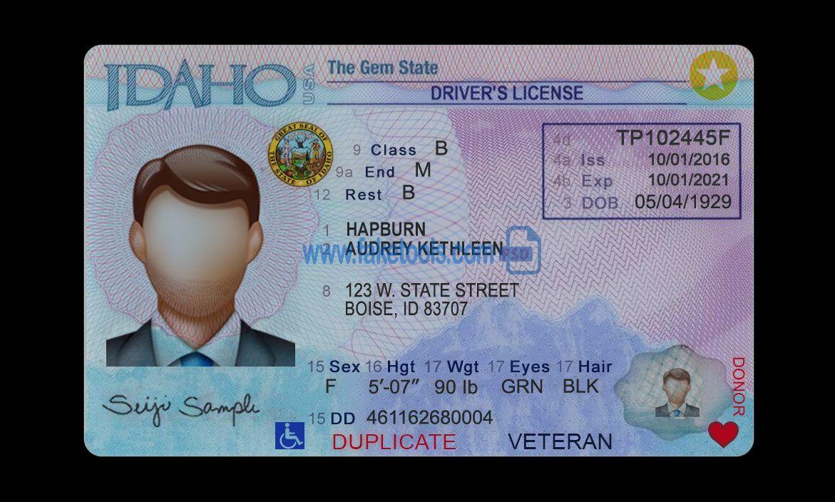 Template Design Store Driver License Passport Utility Bill Psd Template Id Card Template Drivers License Psd Templates
