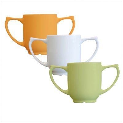 Pack of 2 Easy Grip Wade Dignity Ceramic Two Handled Mug White