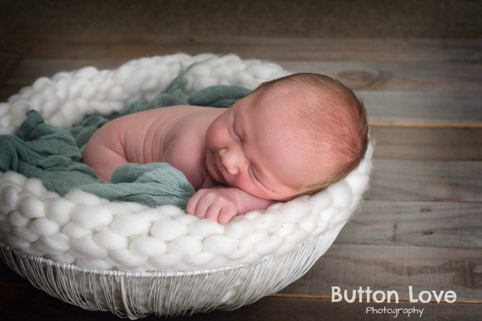 Knitted basket prop lots of colours newborn photography prop