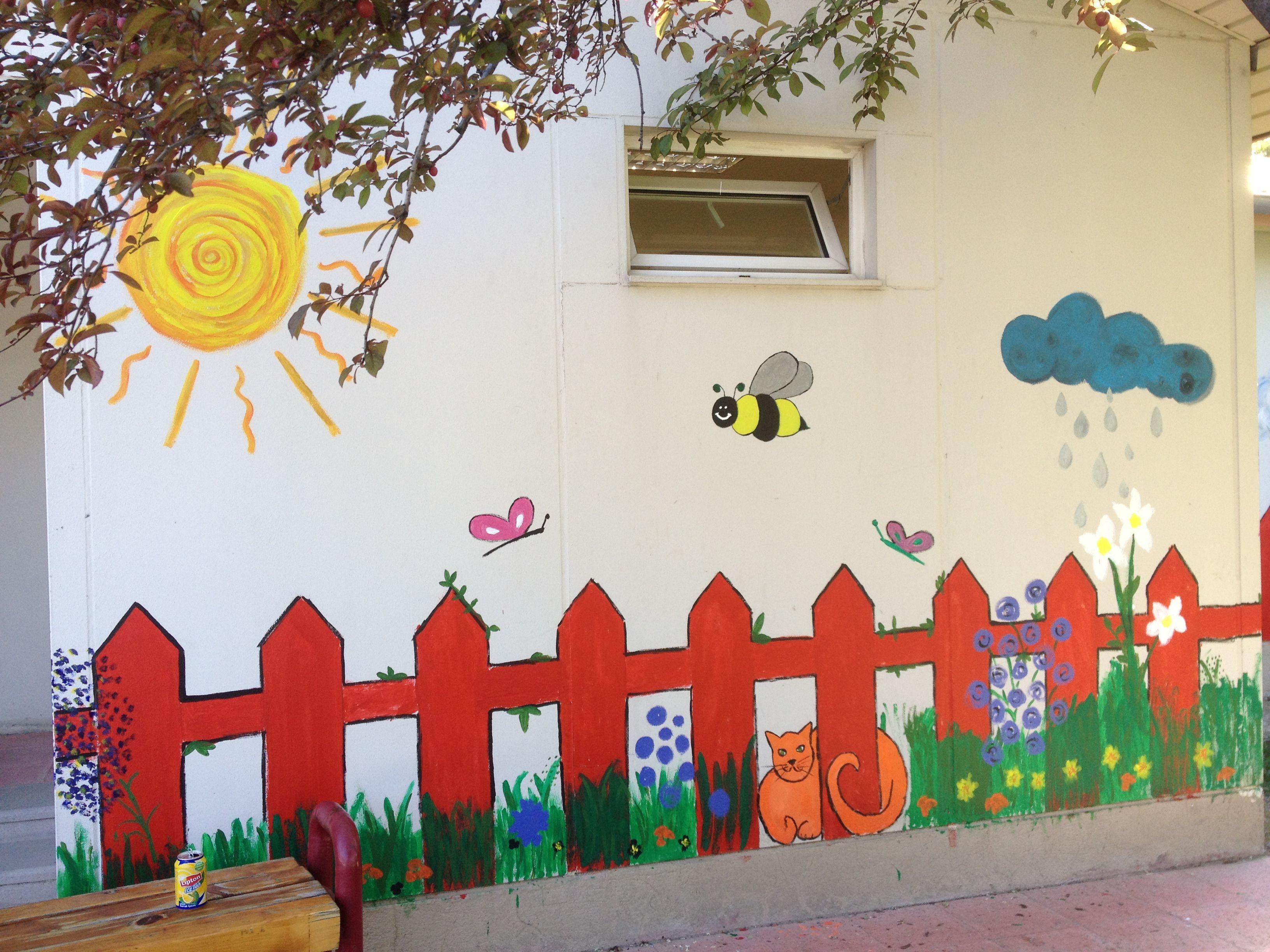 Wall Painting Kindergarten School Wall Art Classroom Walls