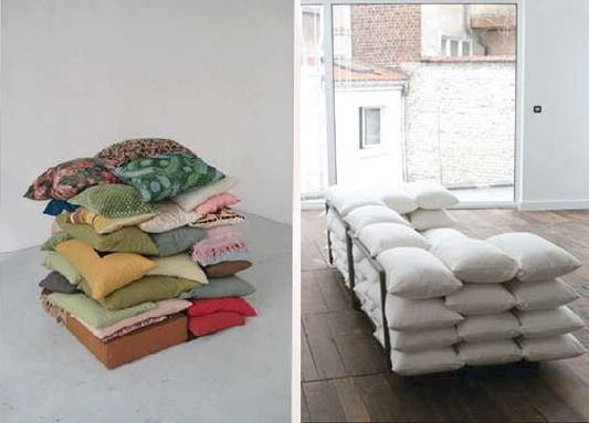 The Most Comfortable Couch! Made Out Of Pillows.