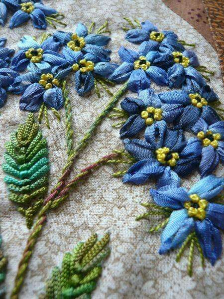 Цветы лентами | Вышивка лентами, Цветы, Лента