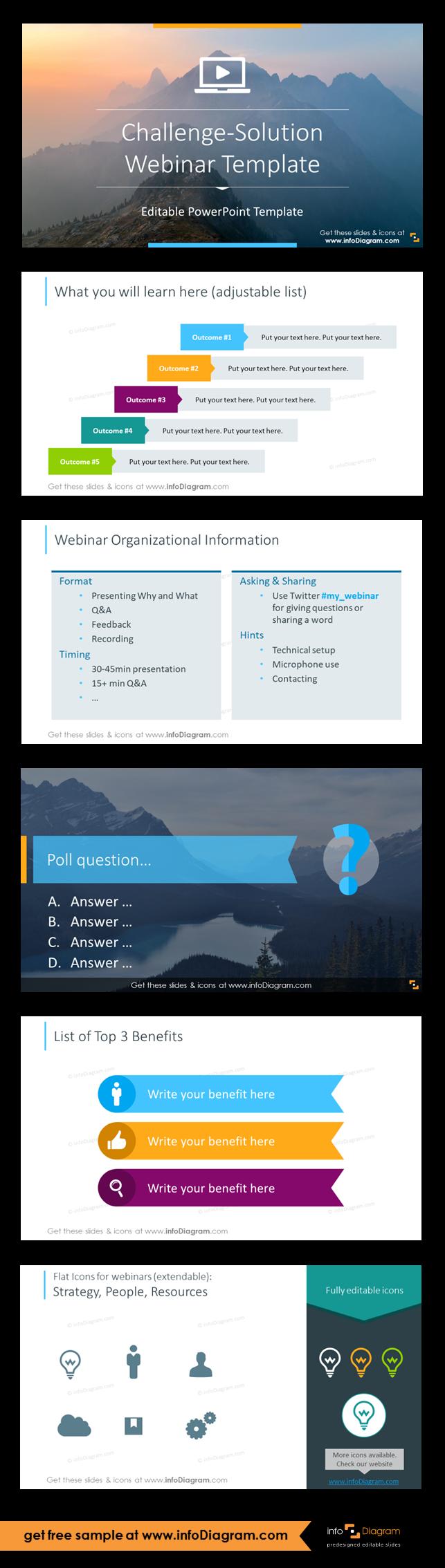 Webinar Presentation of Problem-Solution (PPT template) | webinar ...